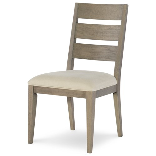 Rachael Ray Home High Line Ladder Back Side Chair with Upholstered Seat