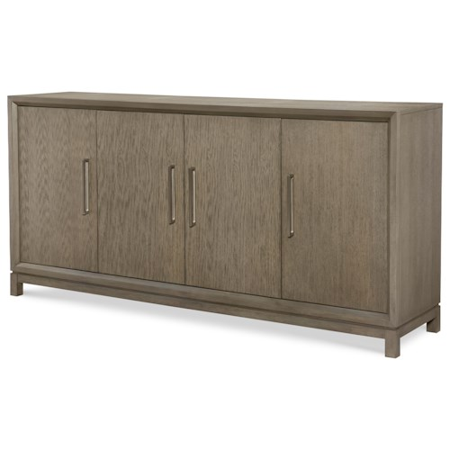 Rachael Ray Home High Line Credenza with Reversible Wine Bottle Shelves