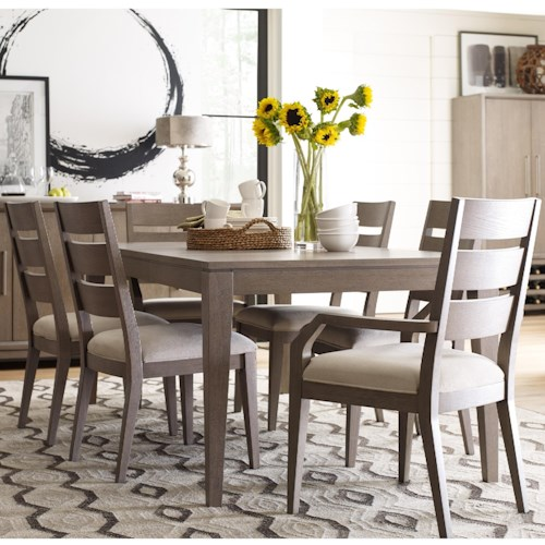 Rachael Ray Home High Line 7 Piece Dining Set with Ladder Back Chairs