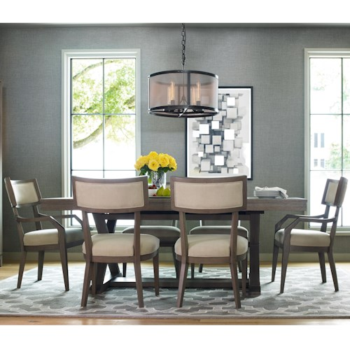 Rachael Ray Home Highline 7 Piece Dining Set with Trestle Table
