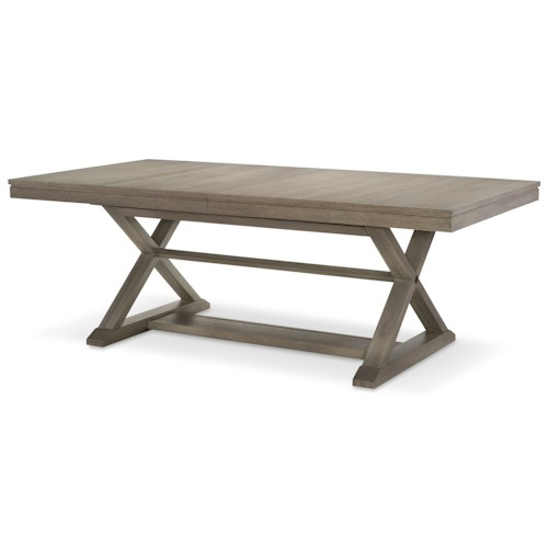Rachael Ray Home Highline Trestle Table with 24