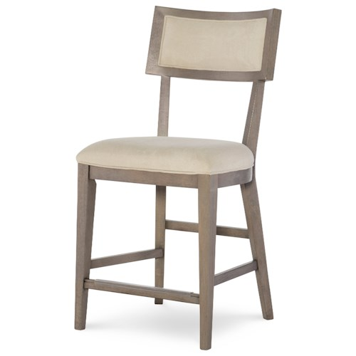 Rachael Ray Home High Line Pub Chair with Upholstered Seat and Back