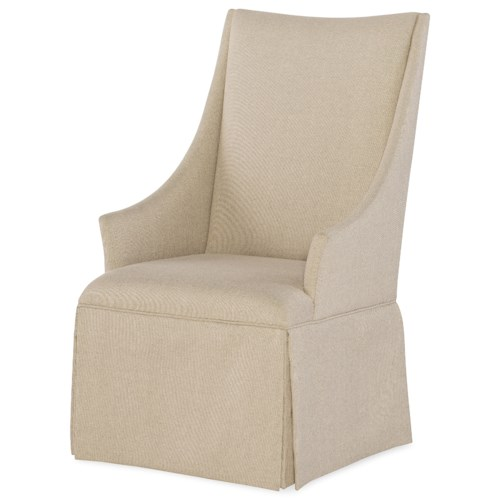 Rachael Ray Home by Legacy Classic Soho Contemporary Upholstered Arm Chair with Skirt