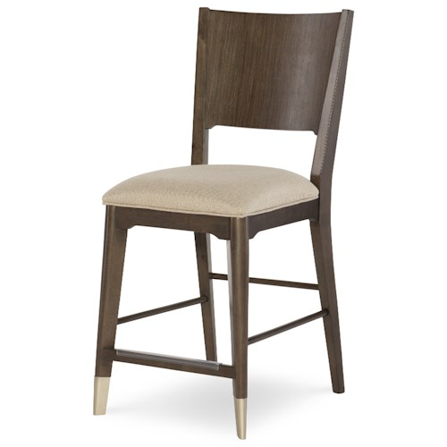 Rachael Ray Home by Legacy Classic Soho Mid-Century Modern Pub Chair with Upholstered Seat