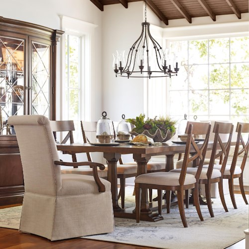 Rachael Ray Home by Legacy Classic Upstate 9 Piece Trestle Table & Chair Set