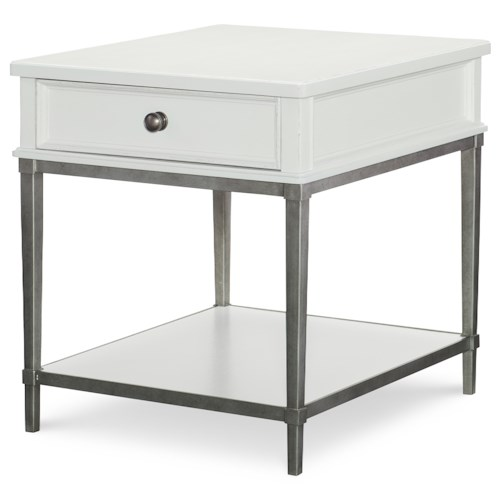 Rachael Ray Home by Legacy Classic Upstate End Table with Metal Base