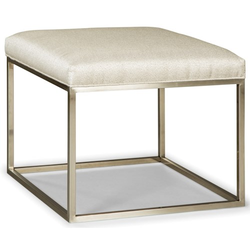 Rachael Ray Home by Craftmaster Highline Bunching Metal Cube Ottoman with Upholstered Seat