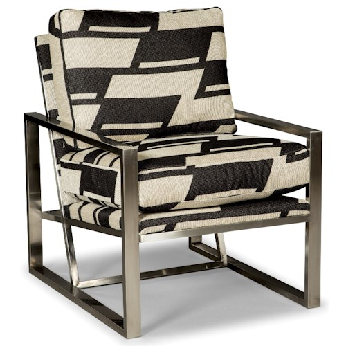 Rachael Ray Home by Craftmaster R069810 Modern Upholstered Chair with Metal Frame