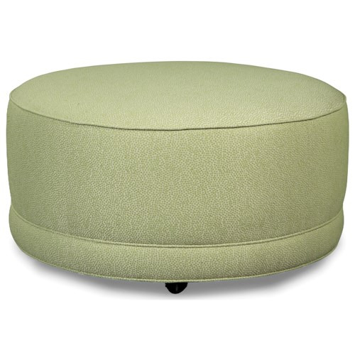 Rachael Ray Home by Craftmaster Soho Round Cocktail Ottoman with Casters