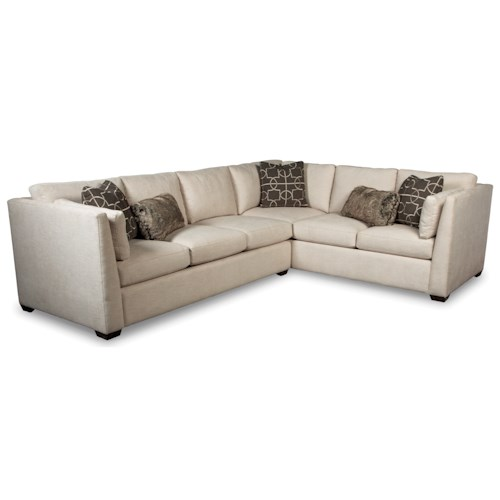 Rachael Ray Home by Craftmaster RR760100 Contemporary Two Piece Sectional Sofa with RAF Corner Sofa