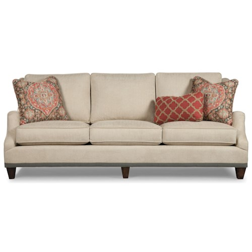 Rachael Ray Home by Craftmaster R7617 - R7618 Transitional English Arm Sofa with Ribbon Trim and Nailheads