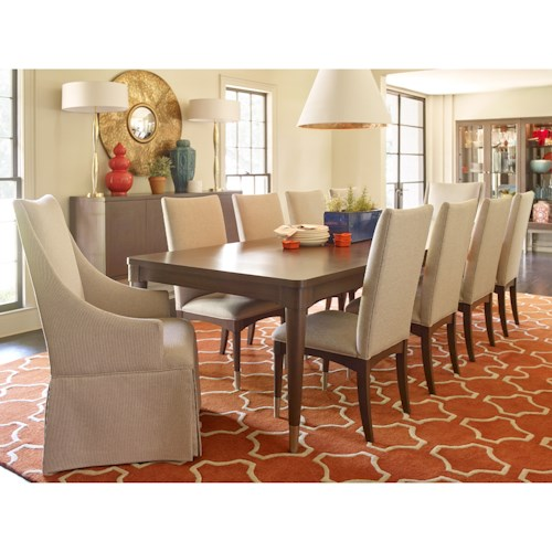 Rachael Ray Home by Legacy Classic Soho Mid-Century Modern 11 Piece Dining Set with Upholstered Seating