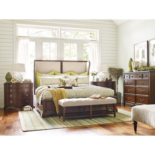 Rachael Ray Home by Legacy Classic Upstate King Platform Shelter Bed, Dresser, Mirror & Nightstand