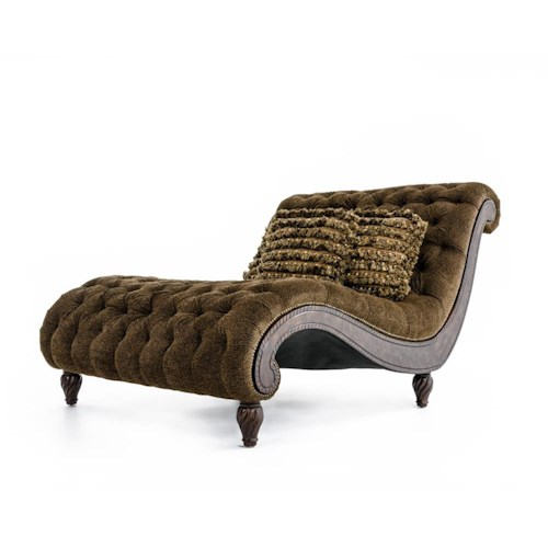 Rachlin Classics Dinah  Decorative Dinah Chaise with Exotic Furniture Appeal