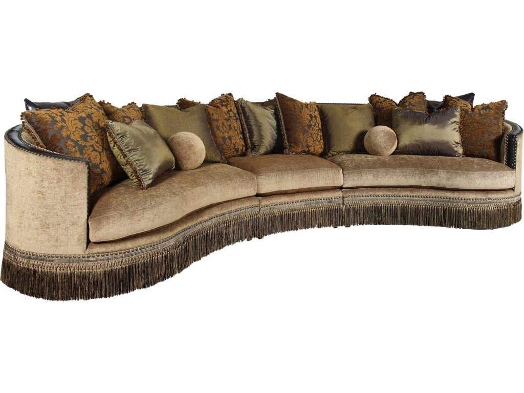 Traditional Sectional Sofas Living Room Furniture Rachlin Classics Whitney Traditional 3 Piece Sectional Sofa With