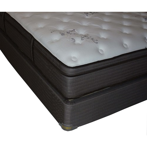 Restonic Clarion Dual Sided Twin Plush Firm Dual-Sided Mattress and Foundation