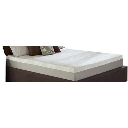 Restonic Wedgewood 10-Inch California King Memory Foam Mattress and Foundation