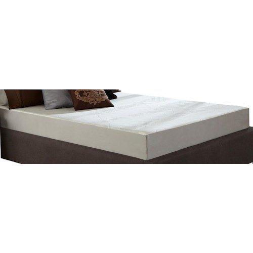 Restonic Wedgewood 8-Inch Twin Extra Long Memory Foam Mattress and Foundation