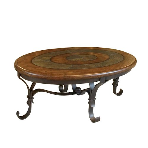 Riverside Furniture Stone Forge Oval Cocktail Table