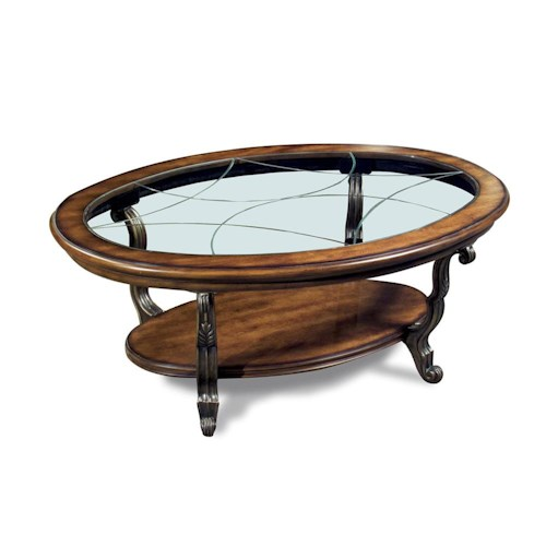 Riverside Furniture Ambrosia Oval Cocktail Table