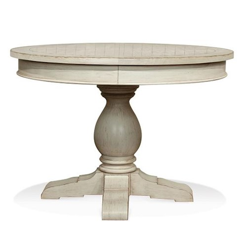 Riverside Furniture Aberdeen Round Pedestal Dining Table