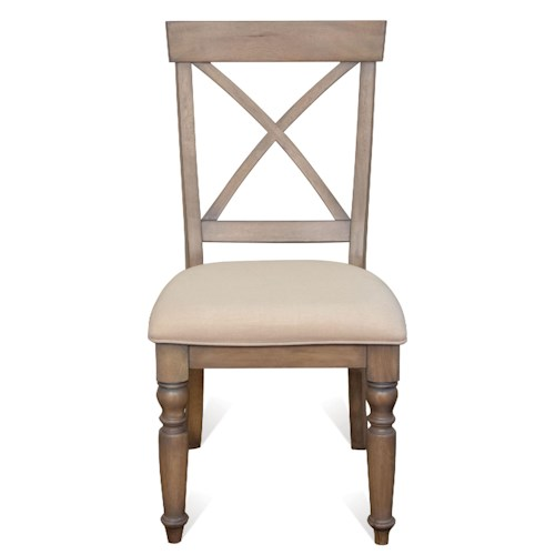 Riverside Furniture Aberdeen X-Back Side Chair w/ Turned Legs