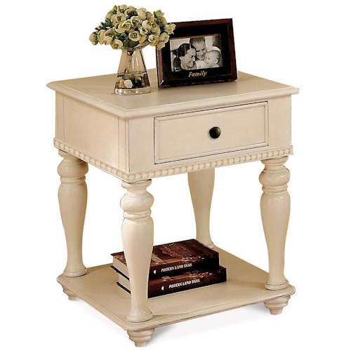 Riverside Furniture Addison Cottage End Table with Storage