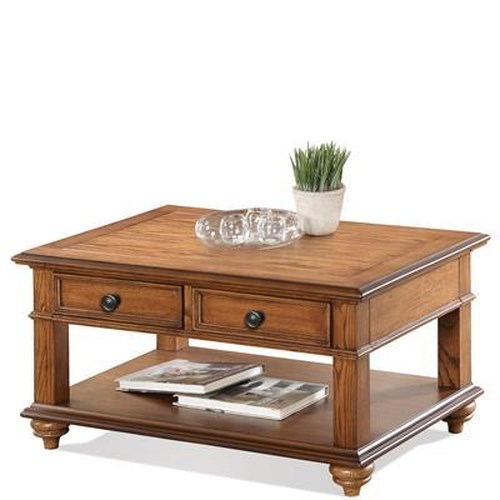Riverside Furniture Allegheny  Cocktail Table with Drawers