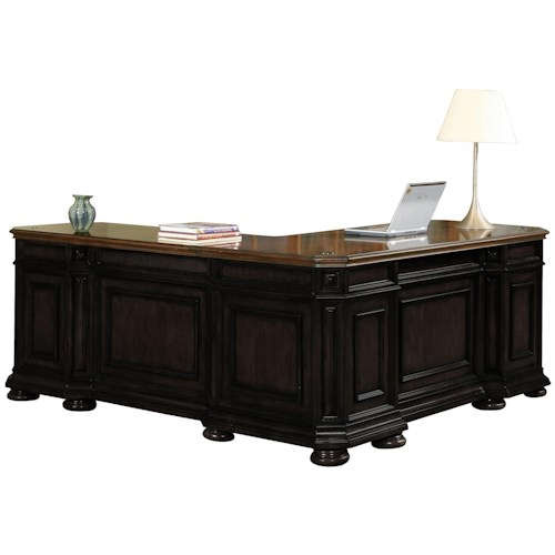 Riverside Furniture Allegro RS L Shape Desk with Return