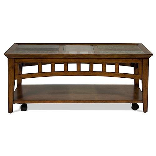 Riverside Furniture Andorra Rectangular Coffee Table with Slate Tiles