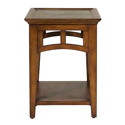 Riverside Furniture Andorra End Table Slate Top Inserts