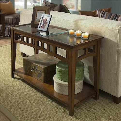 Riverside Furniture Andorra Slate & Glass Top Console Table