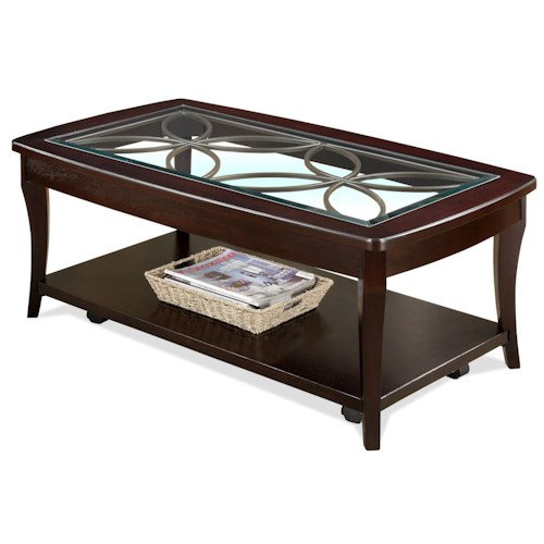 Riverside Furniture Annandale Rectangular Cocktail Table w/ Casters