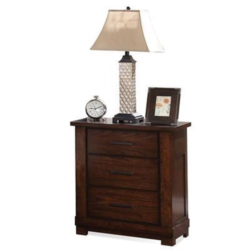 Riverside Furniture Arrondelle 3-Drawer Nightstand w/ Electric Outlet Bar
