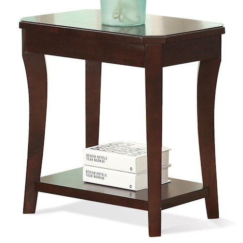 Riverside Furniture Bancroft Transitional Chairside Table