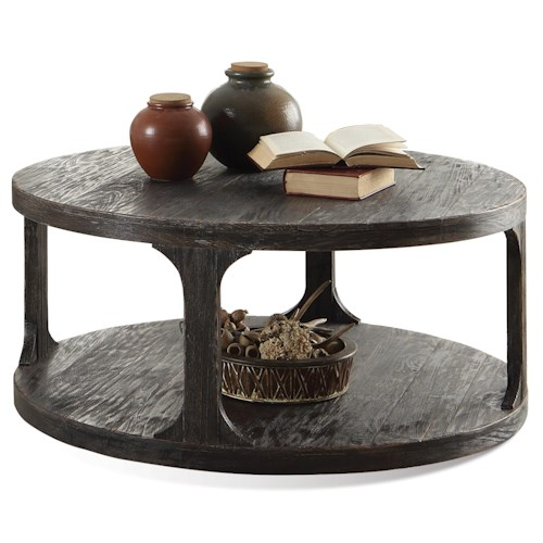 Riverside Furniture Bellagio Round Cocktail Table w/ Shelf