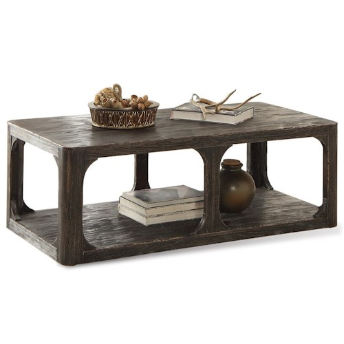 Riverside Furniture Bellagio Rectangular Cocktail Table w/ Shelf