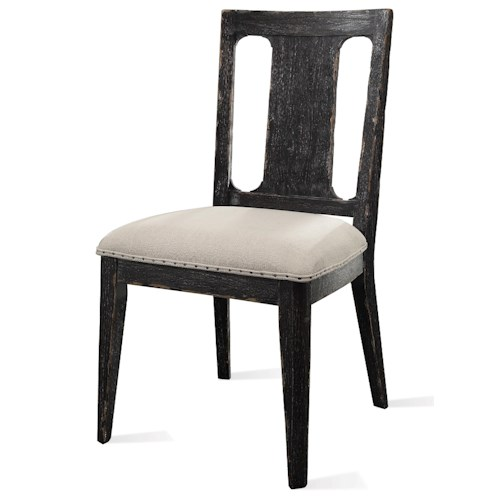 Riverside Furniture Bellagio Side Chair w/ Upholstered Seat