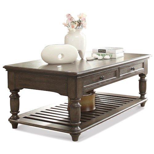 Riverside Furniture Belmeade 2-Drawer Rectangular Coffee Table