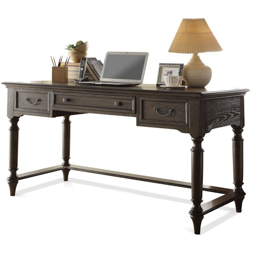 Riverside Furniture Belmeade Traditional Writing Desk w/ Outlet