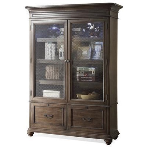 Riverside Furniture Belmeade Large Bookcase w/ Glass Doors