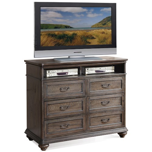 Riverside Furniture Belmeade Six Drawer Entertainment Chest