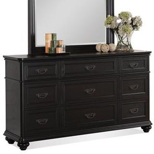 Riverside Furniture Belmeade 9-Drawer Dresser w/ Rounded Molding