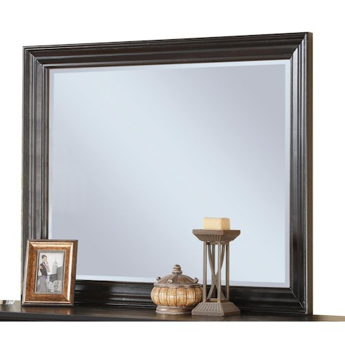 Riverside Furniture Belmeade Framed Beveled Landscape Mirror