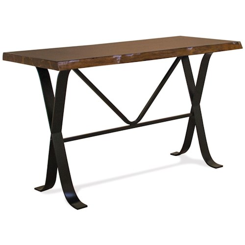 Riverside Furniture Boulder Casual Sofa Table with Metal Legs and Framework