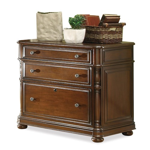 Riverside Furniture Bristol Court 3 Drawer Lateral File Cabinet With Bun Feet