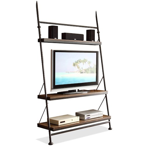 Riverside Furniture Camden Town Leaning TV Stand with 4 Shelves