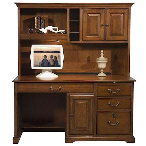 Riverside Furniture Cantata Traditional 58-Inch Computer Desk and Hutch