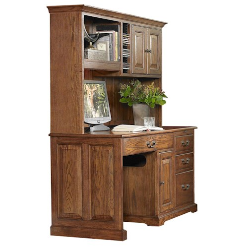 Riverside Furniture Cantata Traditional 58-Inch Computer Desk and Hutch