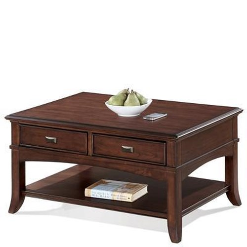 Riverside Furniture Canterbury Cocktail Table with 2 Drawers